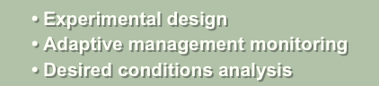 • Experimental design
