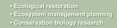 • Ecological restoration